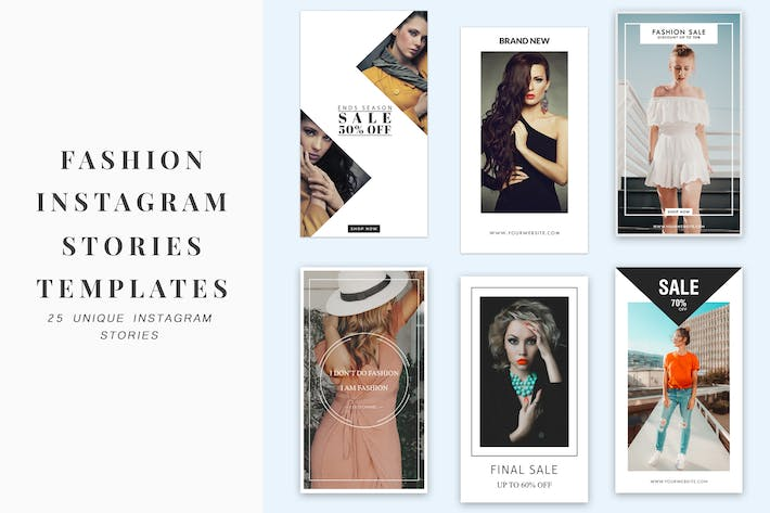 Thumbnail for Fashion Instagram Stories Templates