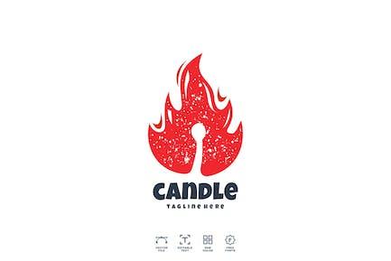 Candle Fire Logo Design