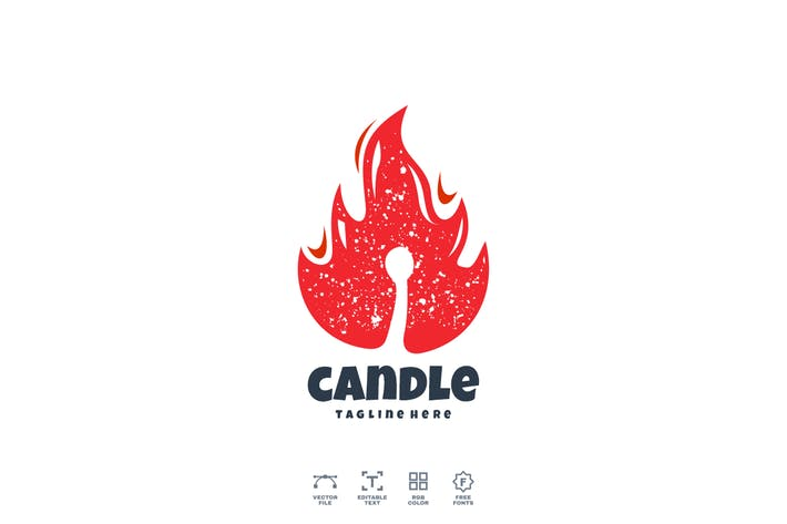 Thumbnail for Candle Fire Logo Design