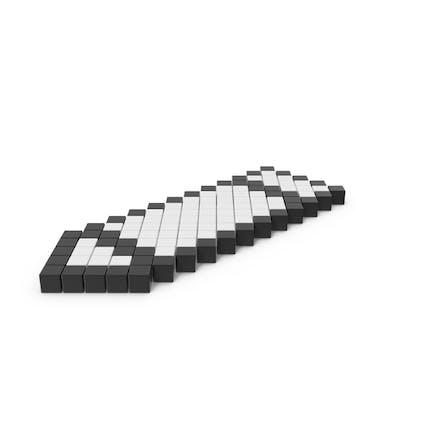 Icono pixelado de lápiz