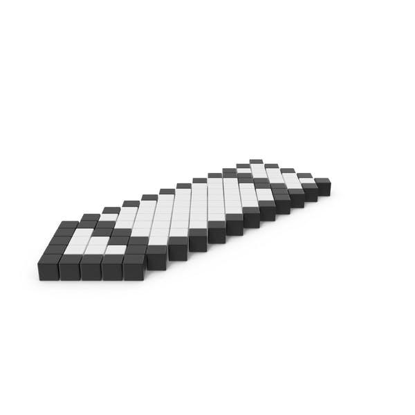 Пиксельный значок карандаша