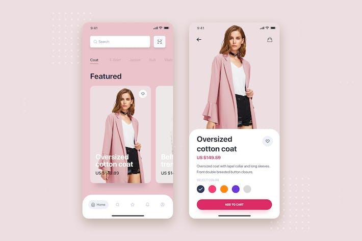 Thumbnail for E-commerce Store Mobile App UI Kit Template