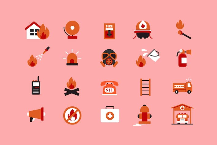 Thumbnail for Firefighters Icons
