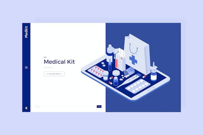 Thumbnail for Medkit - Medical Hero Banner Template