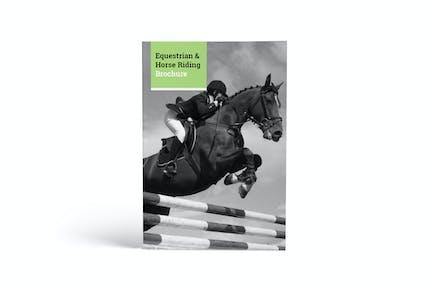 Equestrian & Horse Riding A4 Brochure