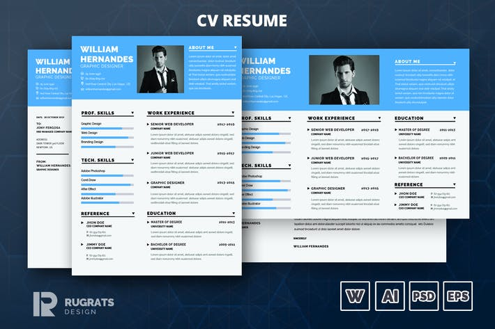 Thumbnail for Minimalist CV  Resume R9 Template