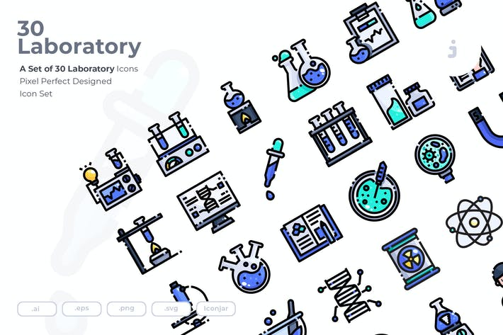 Thumbnail for 30 Laboratory Icons