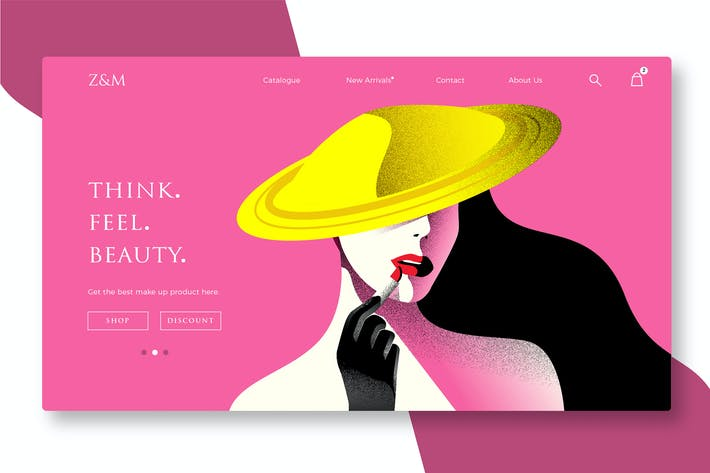 Thumbnail for Beauty and Cosmetics - Banner & Landing Page