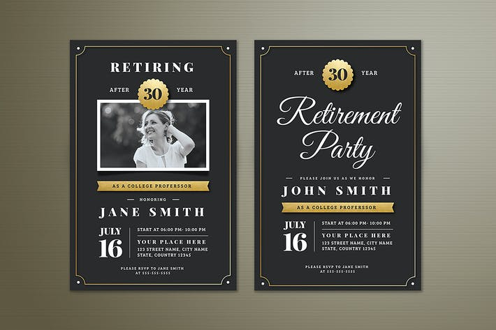 236 layered vector wedding invitations print templates in cmyk thumbnail for gold retirement invitation flyer templates stopboris Image collections