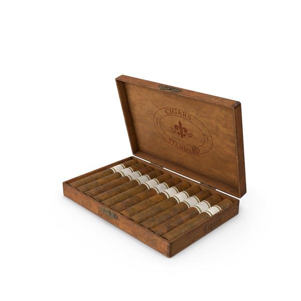 Open Vintage Wooden Cigar Box By Pixelsquid360 On Envato Elements