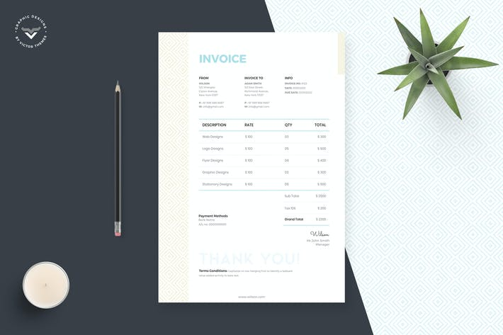 Thumbnail for Creative Invoice Template