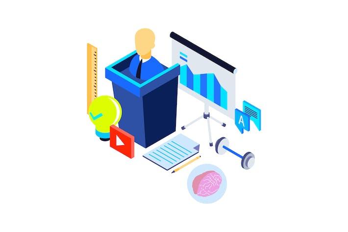Thumbnail for Professional Training Isometric Illustration