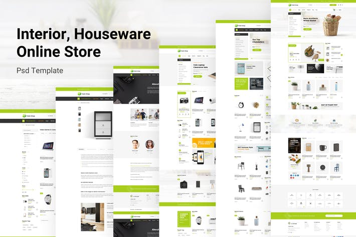 Thumbnail for Interior & Houseware Online Store Psd Template
