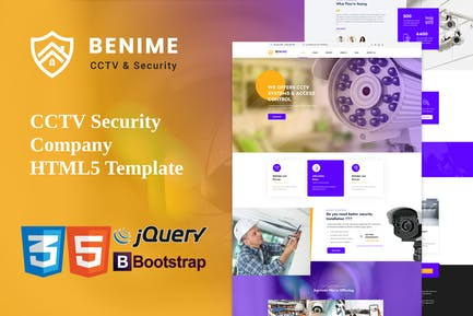 Benime - CCTV Surveillance Service HTML5 Template