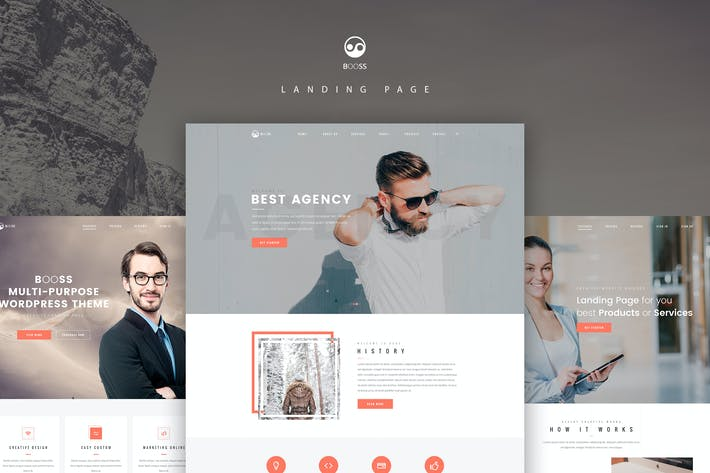 Thumbnail for Booss | Creative Multipurpose Landing Page