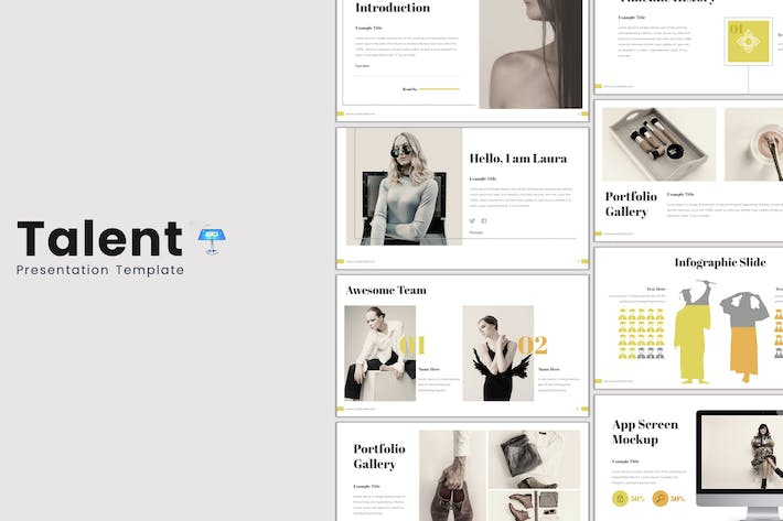 Thumbnail for Talent - Keynote Template