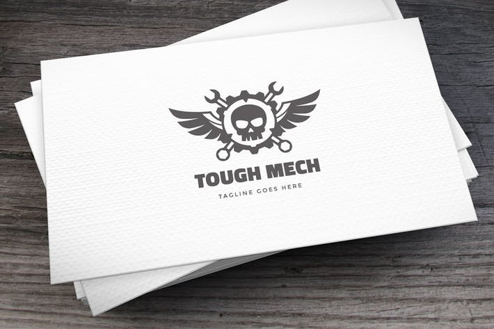 Cover Image For Tough Mech Logo Template