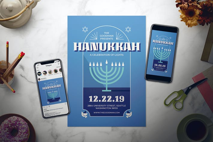 Thumbnail for Hanukkah Flyer Set