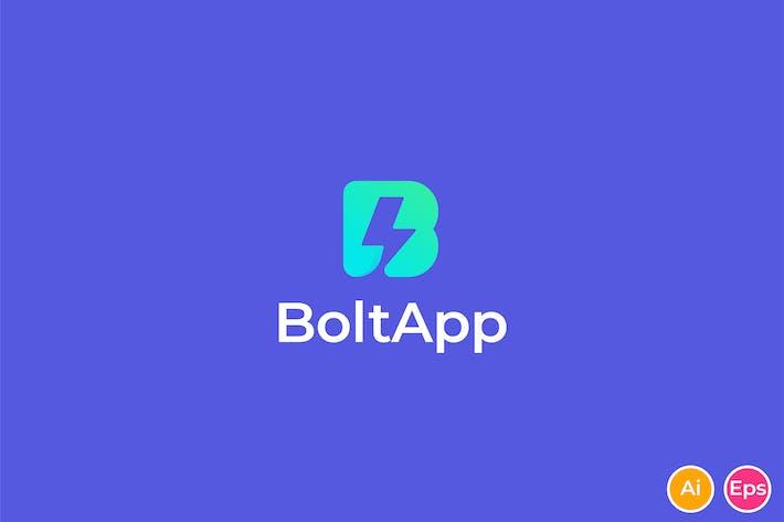 Thumbnail for Bolt App - Fast, Thunder, Letter B, Logo Template