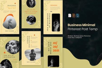 Business Minimal | Pinterest Post Template