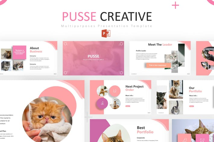 Thumbnail for Pusse - Powerpoint Template