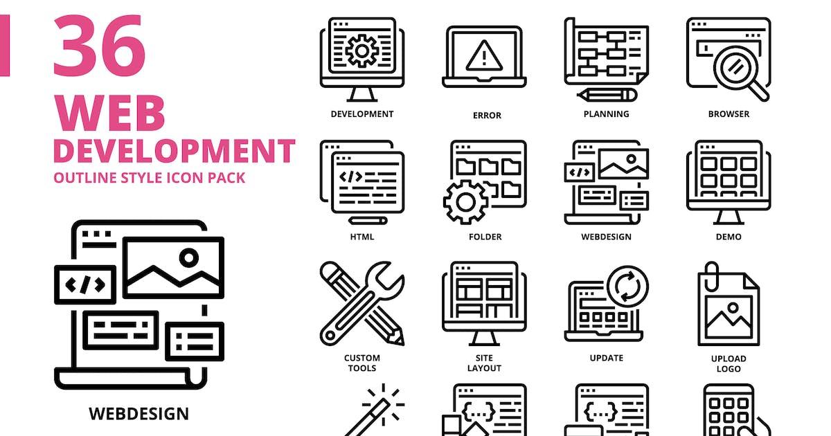 Download Web development Outline Style Icon Set by monkik