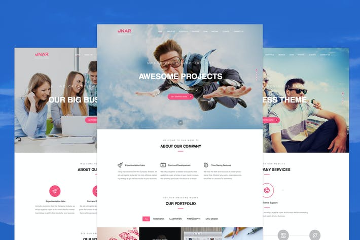 Thumbnail for Unar - Multi-Purpose PSD Template