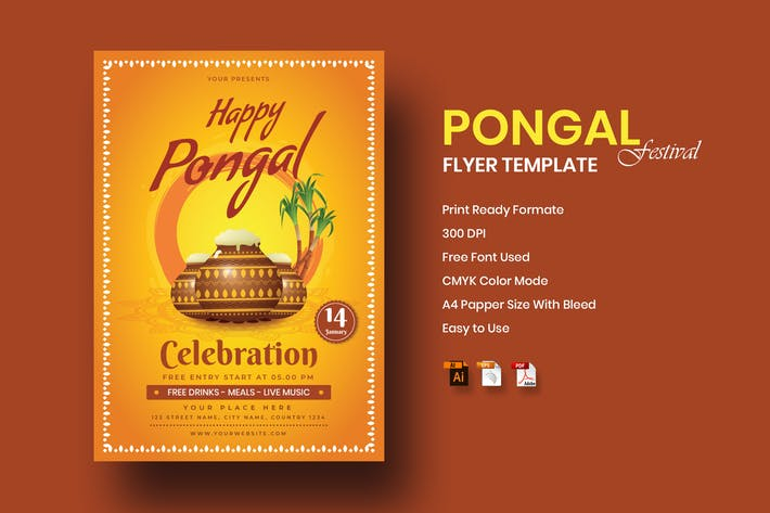 Thumbnail for Pongal Flyer Template