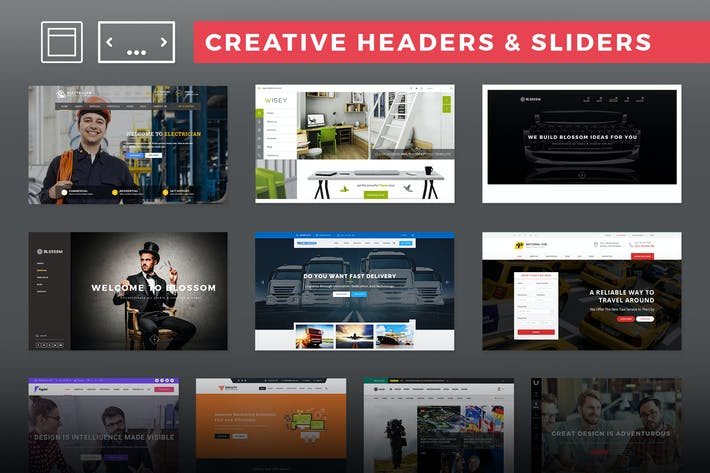 Thumbnail for Creative Headers & Sliders