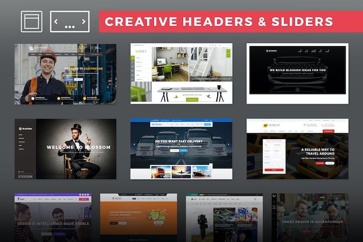Creative Headers & Sliders
