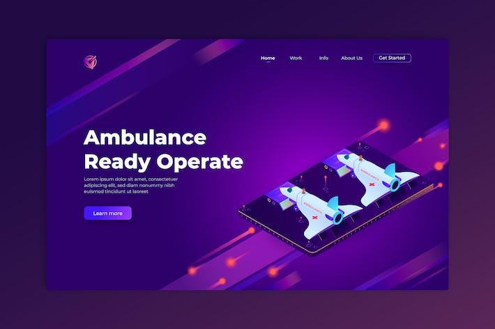 Thumbnail for Ambulance Ready Operate - Isometric Landing Page