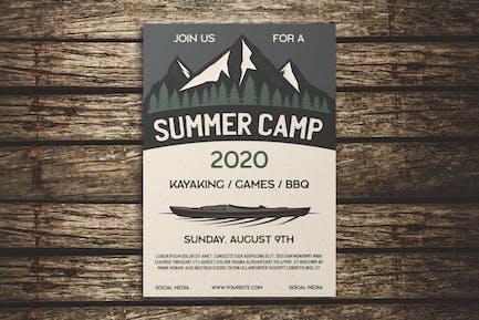 Summer Camping Flyer