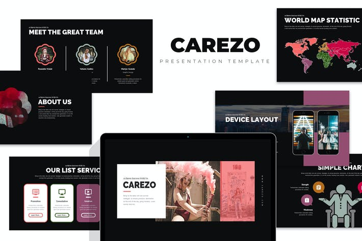 Thumbnail for Carezo : Creative Agency Studio Google Slides