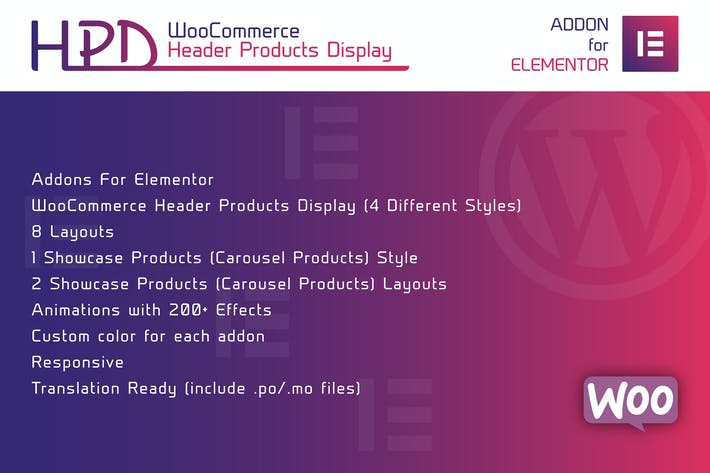 Thumbnail for WooCommerce Header Products Display for Elementor