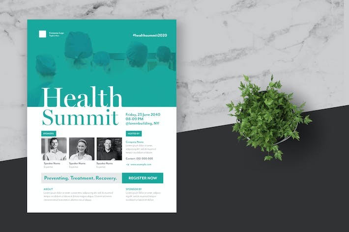 Cover Image For Health Summit Event Flyer Poster