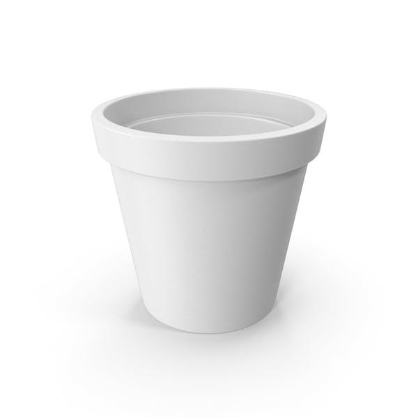 Керамический горшок Белый