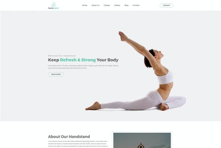 Handstand - Gym & Fitness HTML Template