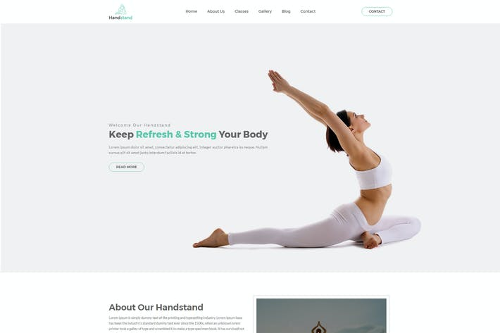 Cover Image For Handstand - Gym & Fitness HTML Template