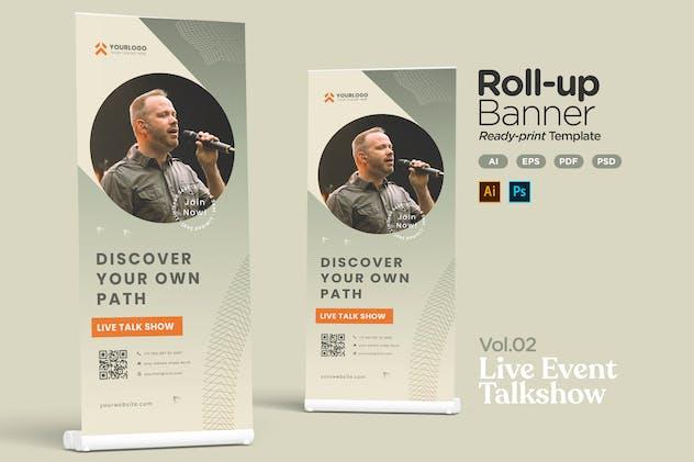 Roll-up Banner Vol.02 Live Event Seminar Talkshow