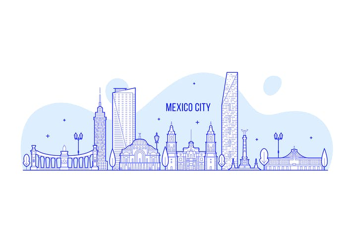 Thumbnail for Mexico city skyline, Mexico
