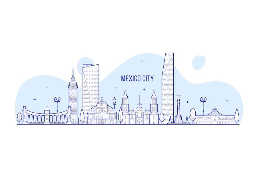 Mexico city skyline, Mexico