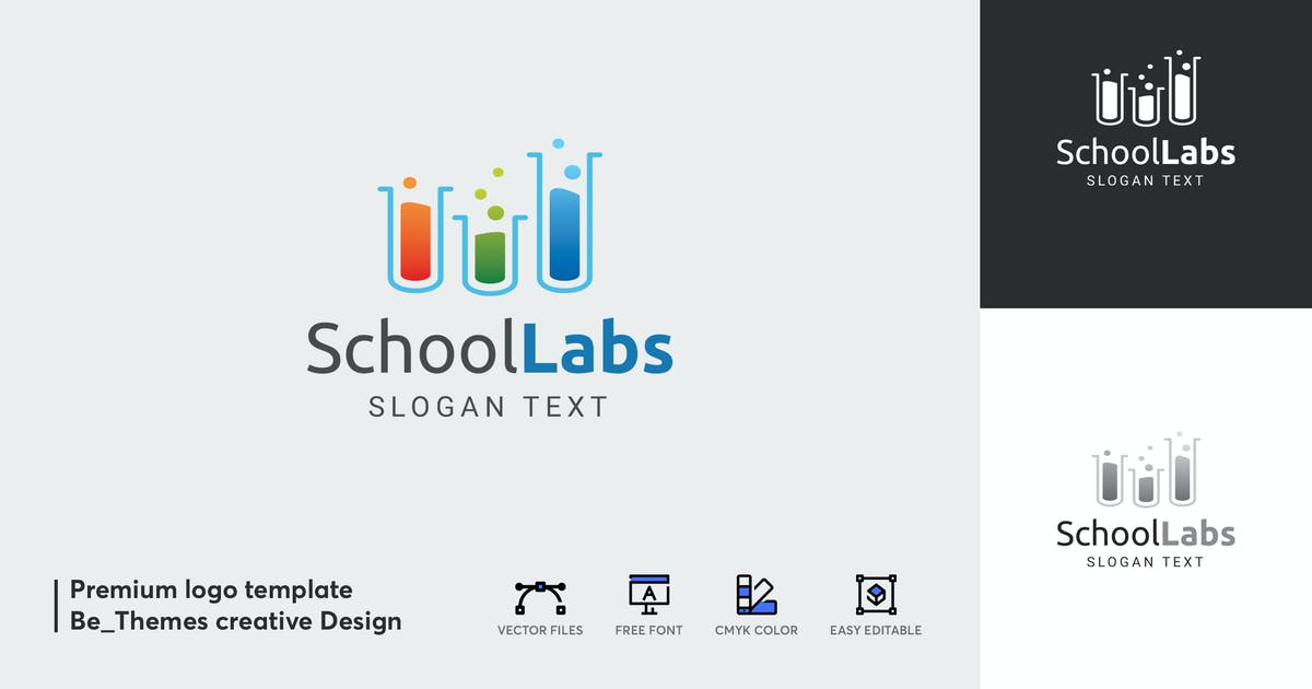 Download School Labs Logo Template by Be_Themes