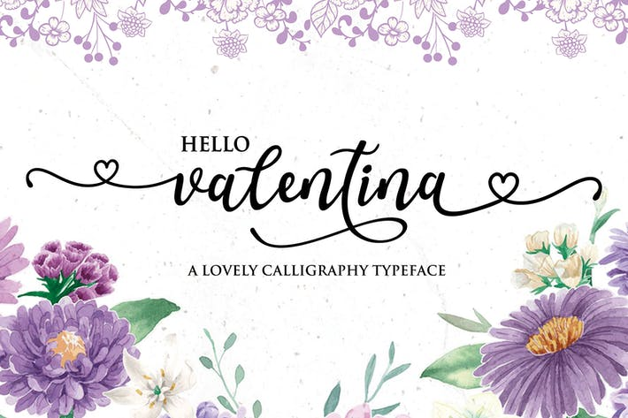 Thumbnail for Valentina - Calligraphy Typeface
