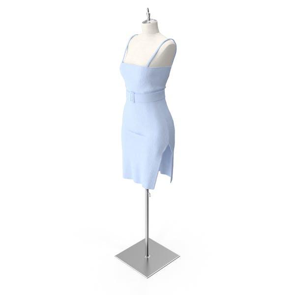 Strick Slip Kleid mit Gürtel