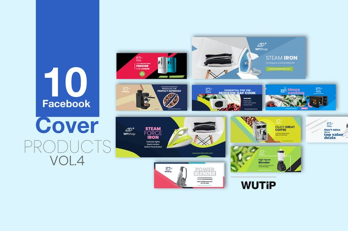 Thumbnail for 10 Facebook Cover - Products Vol 04