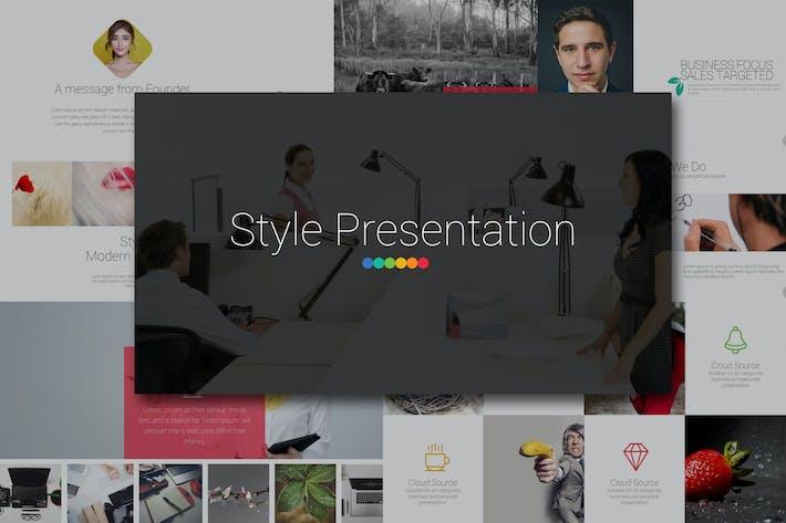 Thumbnail for STYLE Google Slides