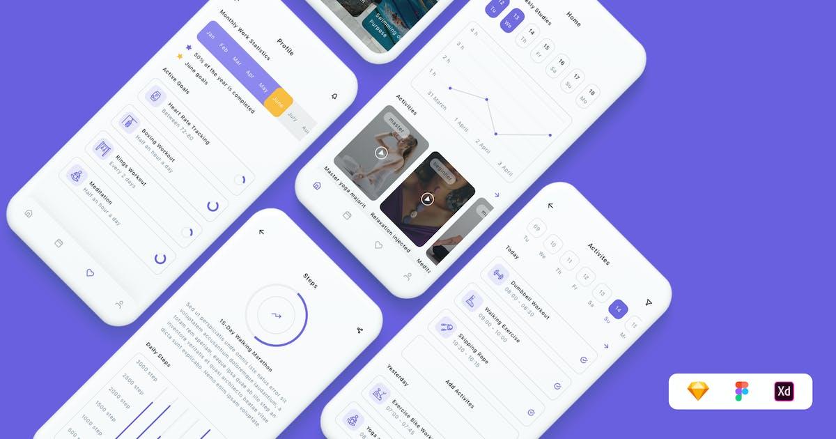 Download Motivation & Goals App UI Kit by betush