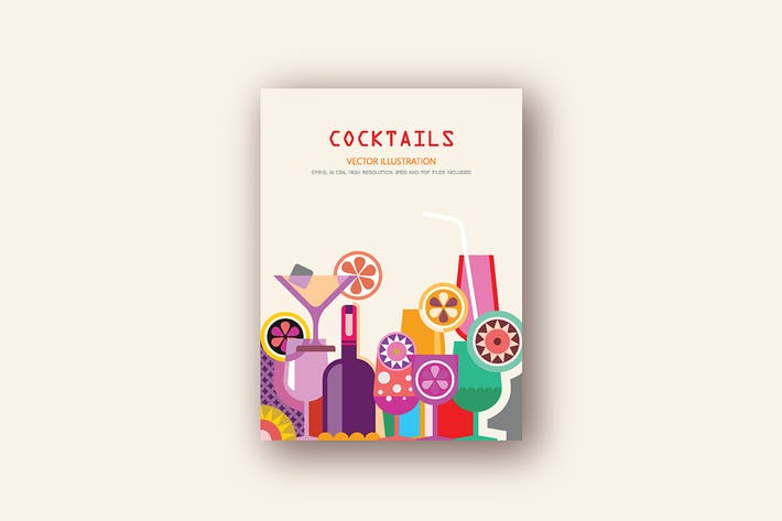 Thumbnail for Cocktails vector illustration
