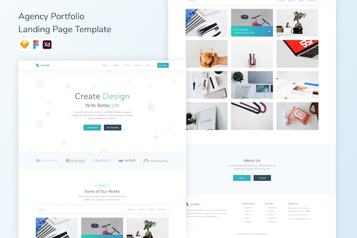 Thumbnail for Agency Portfolio Landing Page Template