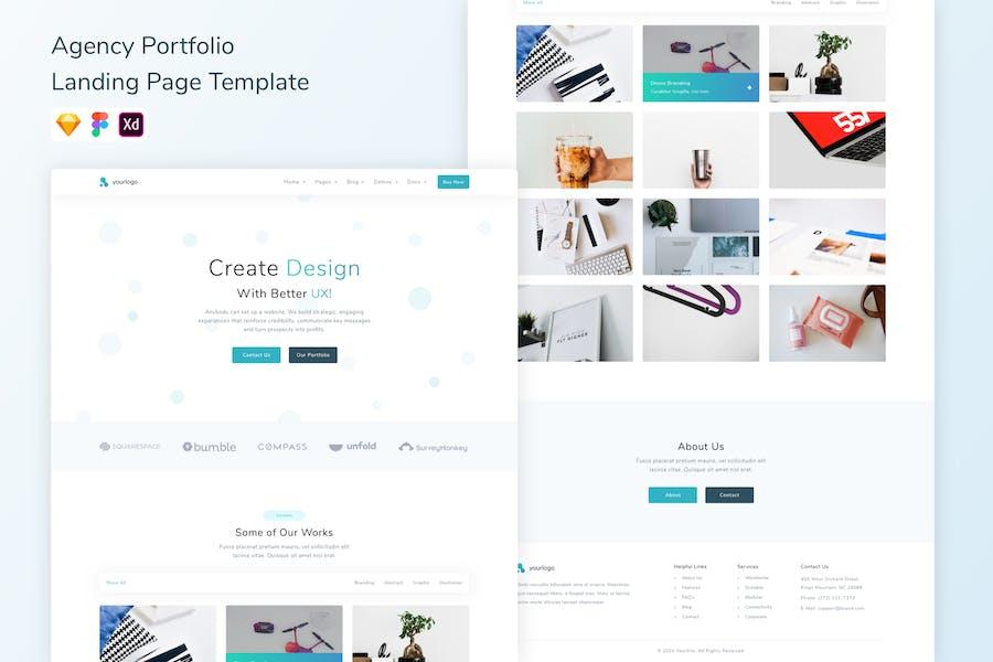 Agency Portfolio Landing Page Template